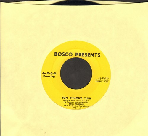 Tamblyn, Russ - Tom Thumb's Tune/(It's Gotta Be) Now Or Never (from MGM Film -Tom Thumb-)(sol) - EX8/ - 45 rpm Records