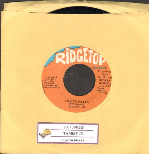 Tammy Jo - I Go To Pieces (NICE Country-Update of the Del Shannon Classic, double-A-sided DJ advance pressing with juke box label) - NM9/ - 45 rpm Records