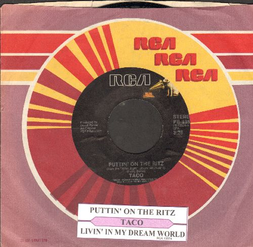 Taco - Puttin' On The Ritz/Livin' In My Dream World (with juke box label and company sleeve) - NM9/ - 45 rpm Records