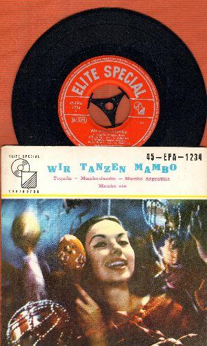 Fernandez, Joam Tanzorchester - Wir Tanzen Mambo: Tequila/Mambo-Jambo/Mambo Argentina/Mambo Ole (vinyl EP record with picture cover, Swiss Pressing) - NM9/EX8 - 45 rpm Records