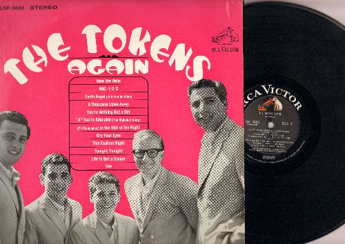 Tokens - The Tokens Again: Earth Angel, A Thousand Miles Away, A You're Adorable, Gee, Life Is But A Dream (Vinyl STEREO LP record, NICE condition!) - NM9/NM9 - LP Records