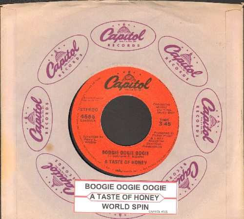 Taste Of Honey - Boogie Oogie Oogie/World Spin (with juke box label) - NM9/ - 45 rpm Records