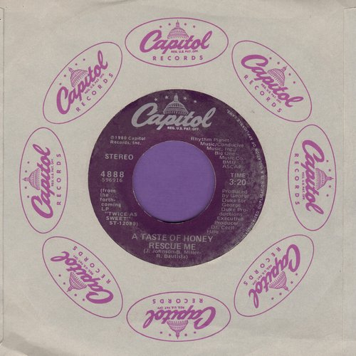 Taste Of Honey - Rescue Me/Say That You'll Stay - M10/ - 45 rpm Records