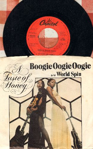 Taste Of Honey - Boogie Oogie Oogie/World Spin (with picture sleeve) - EX8/EX8 - 45 rpm Records