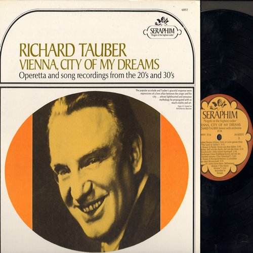 Tauber, Richard - Vienna, City Of Dreams - Operetta and song recordings from the 1920s & 30s (Vinyl MONO LP record, re-issue of vintage recordings) - NM9/NM9 - LP Records