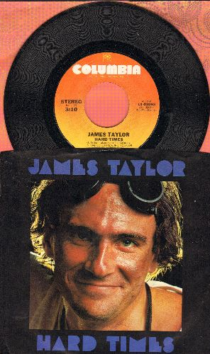 Taylor, James - Hard Times/Summer's Here (with picture sleeve) - NM9/NM9 - 45 rpm Records