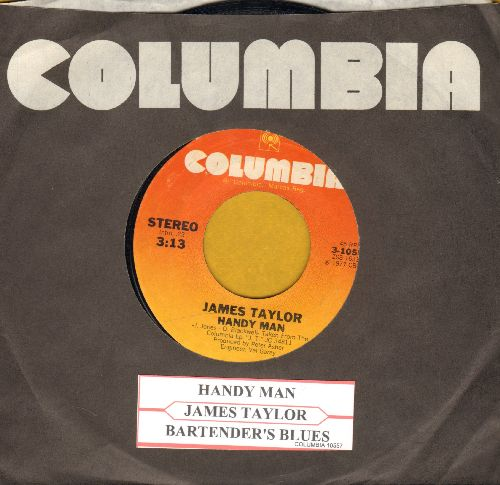 Taylor, James - Handy Man/Bartender's Blues (with juke box label and Columbia company sleeve) - EX8/ - 45 rpm Records