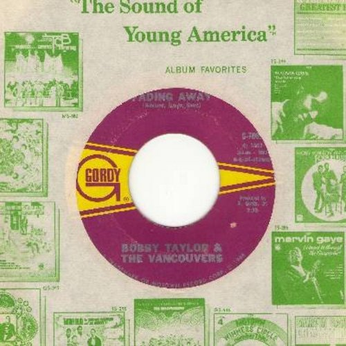 Taylor, Bobby & The Vancouvers - Fading Away/Does Your Mama Know About Me (with Motown company sleeve) - EX8/ - 45 rpm Records