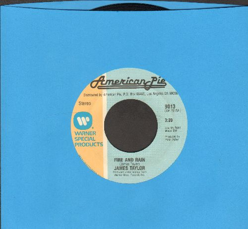 Taylor, James - Fire And Rain/Shower The People (double-hit re-issue) - EX8/ - 45 rpm Records