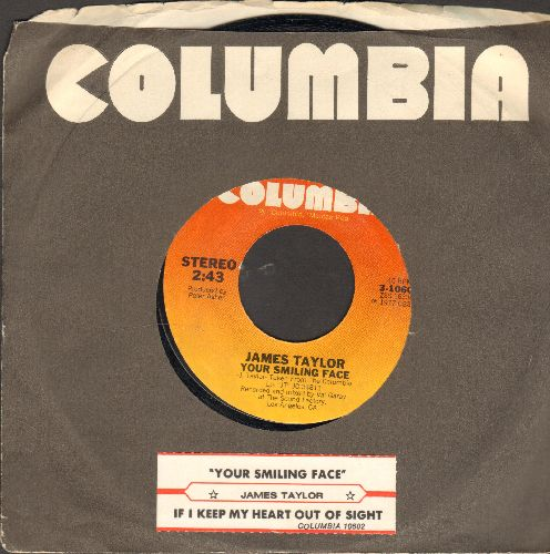 Taylor, James - Your Smiling Fae/If I Keep My Heart Out Of Sight (with juke box label and Columbia company sleeve) - EX8/ - 45 rpm Records