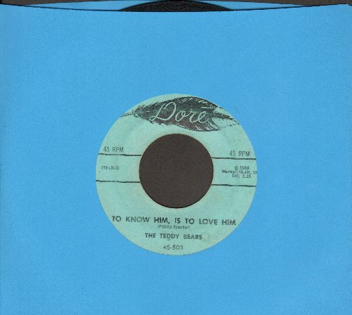 Teddy Bears - To Know Him Is To Love Him/Don't You Worry My Little Pet  - VG7/ - 45 rpm Records