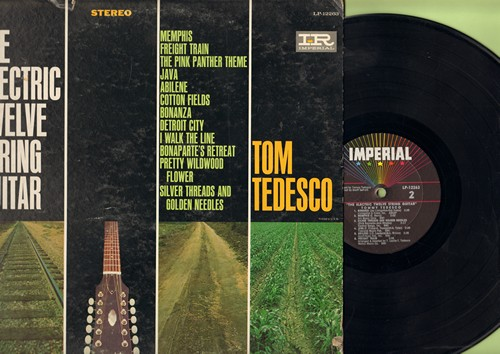 Tedesco, Tom - The Electric Twelve-String Guitar: Pink Panther Theme, I Walk The Line, Bonanza, Java, Freight Train (Vinyl STEREO LP record) - EX8/VG7 - LP Records