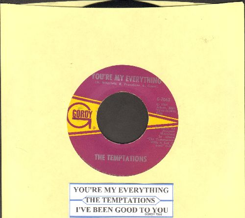 Temptations - You're My Everything/I've Been Good To You (with juke box label) - EX8/ - 45 rpm Records
