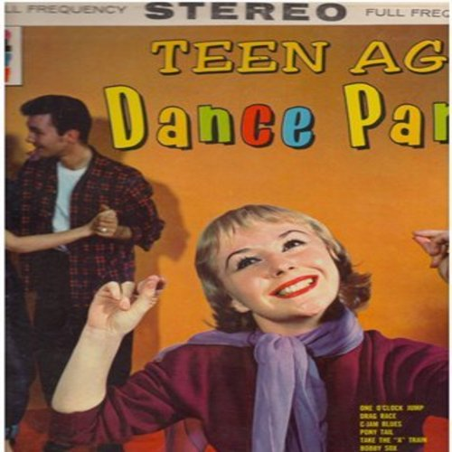 Krane, Bobby & His Orchestra - Teen Age Dance Party: Drag Race, Wiggle Walk, Rocks And Rolls, Teen Deen, Pony Tail, Take The A-Train, Stompin' At The Savoy (Vinyl STEREO LP record) - EX8/EX8 - LP Records