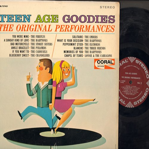 Fireflys, Harptones, Storey Sisters, Embers, others - Teen Age Goodies - The Original Performances: You Were Mine, Bad Motorcycle, Memories Of You, Blueberry Sweet (Vinyl STEREO LP record) - EX8/NM9 - LP Records