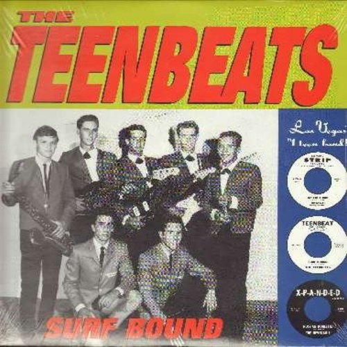 Teenbeats - Surf Bound: Teenbeat Theme, Slinky, Whole Lotta Shakin', Mr. Moto, Rawhide, Johnny B. Goode, Caterpillar Crawl (re-issue of vintage Drag-Surf recordings, SEALED, never opened!) - SEALED/SEALED - LP Records