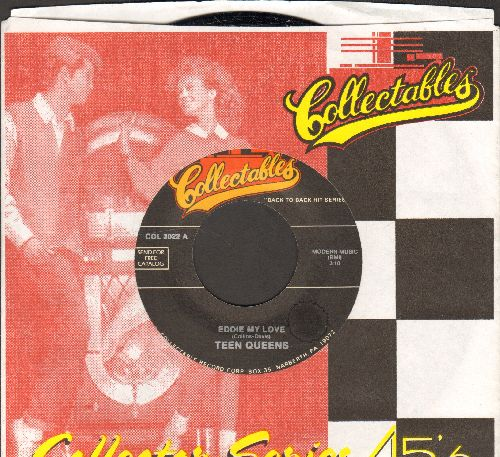 Teen Queens - Eddie My Love/Stranded In The Jungle (by The Cadets on flip-side) (double-hit re-issue with Collectables company sleeve) - M10/ - 45 rpm Records