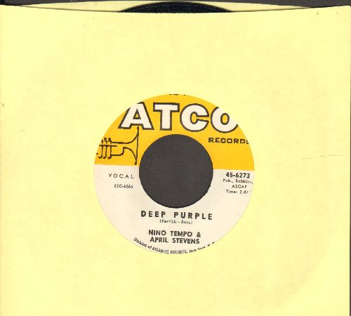Tempo, Nino & April Stevens - Deep Purple/I've Been Carrying A Torch For You So Long That I Burned A Great Big Hole In My Heart (with Atco company sleeve) - EX8/ - 45 rpm Records