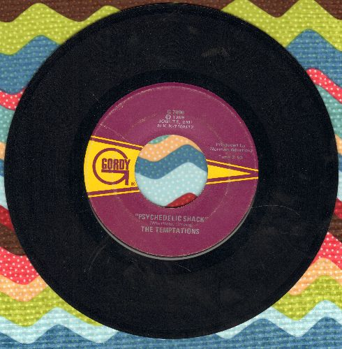 Temptations - Psychedelic Shack/That's The Way Love Is  - VG7/ - 45 rpm Records