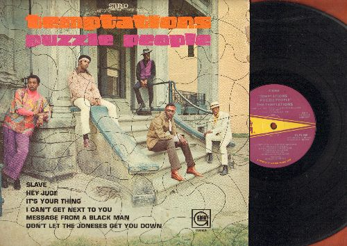 Temptations - Puzzle People: Hey Jude, Message From A Black Man, I Can't Get Next To You, Little Green Apples (vinyl STEREO LP record) - EX8/VG7 - LP Records