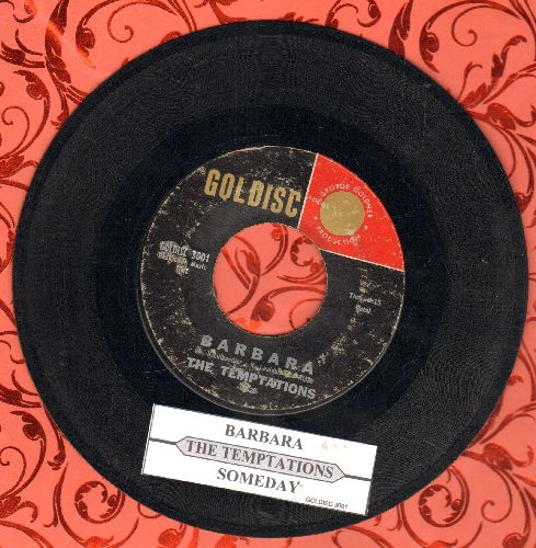 Temptations - Barbara (FANTASTIC Doo-Wop Sound!)/Someday (this is NOT the Motown Group, but a 1950s White Doo-Wop Group!) - VG7/ - 45 rpm Records