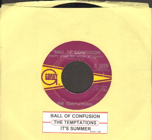 Temptations - Ball Of Confusion/It's Summer (with juke box label) - EX8/ - 45 rpm Records