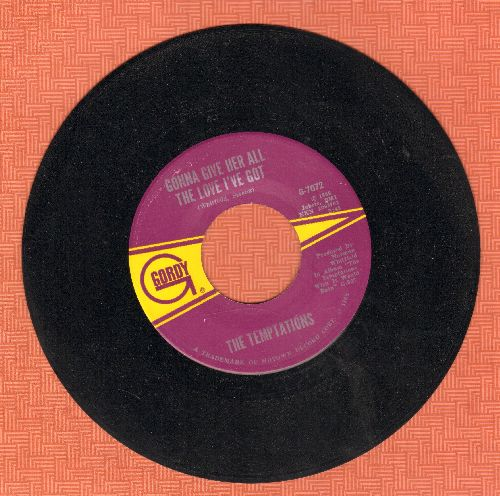 Temptations - I Could Never Love Another (After Loving You)/Gonna Give Her All The Love I've Got (wol) - NM9/ - 45 rpm Records