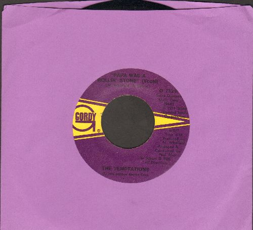 Temptations - Papa Was A Rolling Stone/Papa Was A Rolling Stone (Instrumental) - EX8/ - 45 rpm Records