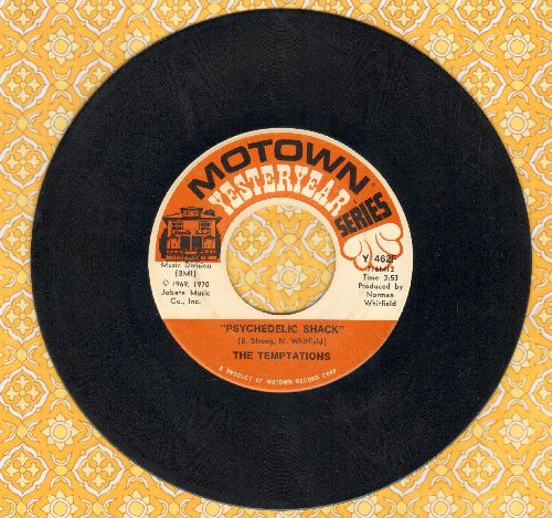 Temptations - Psychedelic Shack/I Can't Get Next To You (double-hit re-issue) - EX8/ - 45 rpm Records