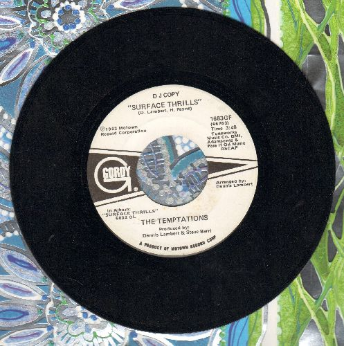 Temptations - Surface Thrills (DJ advance pressing) - EX8/ - 45 rpm Records