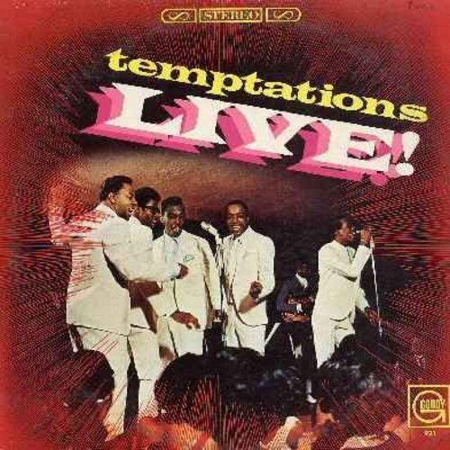 Temptations - Live!: My Girl, Yesterday/What Now My Love, Ain't Too Proud To Beg, Get Ready, Old Man River, Don't Look Back (Vinyl LP record) - NM9/EX8 - LP Records