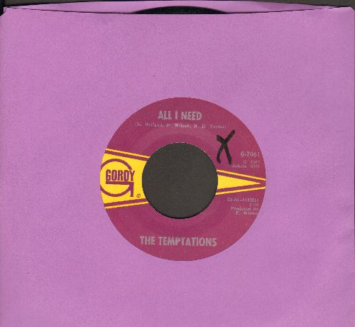 Temptations - All I Need/Sorry Is A Sorry Word (minor wol) - EX8/ - 45 rpm Records
