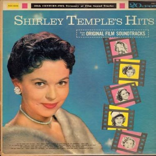 Temple, Shirley - Shirley Temple's Hits: On The Good Ship Lollipop, Polly-Wolly-Doodle, Goodnight My Love, Early Bird (Vinyl MONO LP record) - VG6/VG7 - LP Records