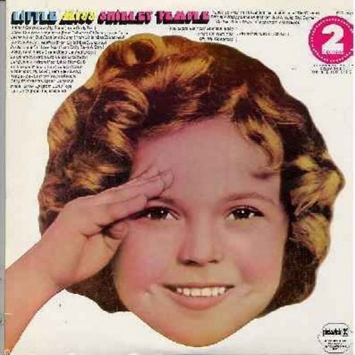 Temple, Shirley - Little Miss Shirley Temple - All the best-loved songs by America's Sweetheart on 2 vinyl LP records in gate-fold cover album! All original recordings , 1970s issue (counts as 2 LPs) - EX8/EX8 - LP Records