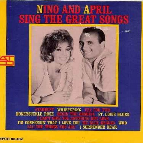 Tempo, Nino & April Stevens - Nino And April Sing The Great Songs: My Blue Heaven, Tea For Two, Stardust, St. Louis Blues, Begin The Beguine, I Can't Give You Anything But Love (Vinyl STEREO LP record) - NM9/EX8 - LP Records