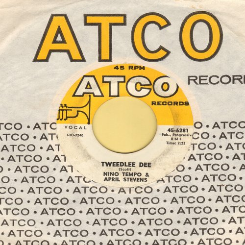 Tempo, Nino & April Stevens - Tweedlee Dee/Whispering (with vintage Atco company sleeve) - EX8/ - 45 rpm Records