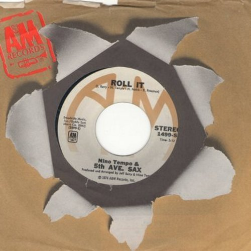 Tempo, Nino & 5th Ave. Sax - Roll It/Hawkeye - EX8/ - 45 rpm Records