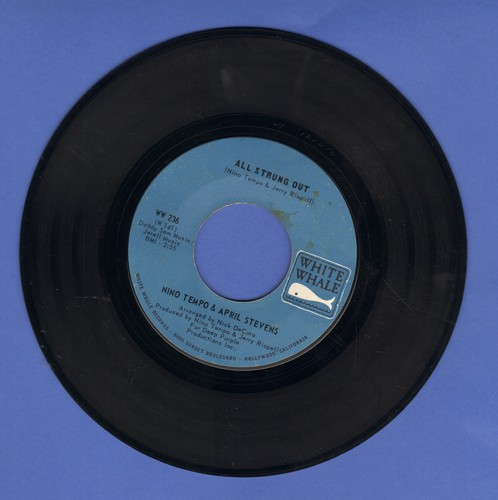 Tempo, Nino & April Stevens - All Strung Out/I Can't Go On Living Baby Without You (bb) - NM9/ - 45 rpm Records