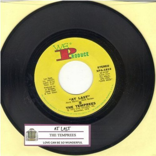 Tempress - At Last/Love Can Be So Wonderful (with juke box label) - M10/ - 45 rpm Records