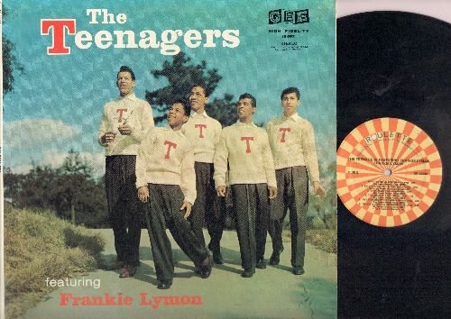 Teenagers Featuring Frankie Lymon - The Teenagers: Why Do Fools Fall In Love, I Promise To Remember, I Want You To Be My Girl, ABC's Of Love, I'm Not A Juvenile Delinquent (Vinyl STEREO LP record, re-issue of vintage recordings) - NM9/NM9 - LP Records