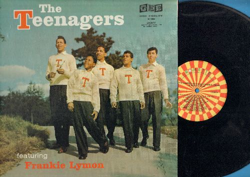 Teenagers Featuring Frankie Lymon - The Teenagers: Why Do Fools Fall In Love, I Promise To Remember, I Want You To Be My Girl, ABC's Of Love, I'm Not A Juvenile Delinquent (authentic-looking re-issue of vintage recording) - NM9/NM9 - LP Records