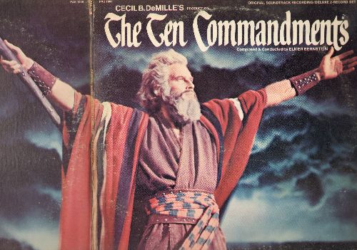 Bernstein, Elmer - The Ten Commandments - Original Motion Picture Sound Track, Score composed and conducted by Elmer Bernstein (2 vinyl STEREO LP records, gate-fold cover) - NM9/EX8 - LP Records