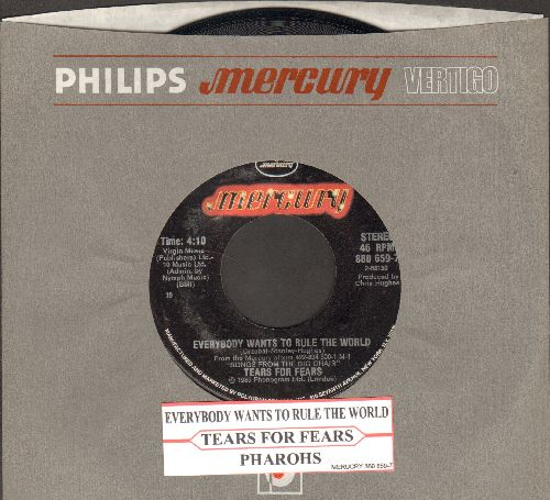 Tears For Fears - Everybody Wants To Rule The World/Pharaohs (with juke box label and company sleeve) - NM9/ - 45 rpm Records