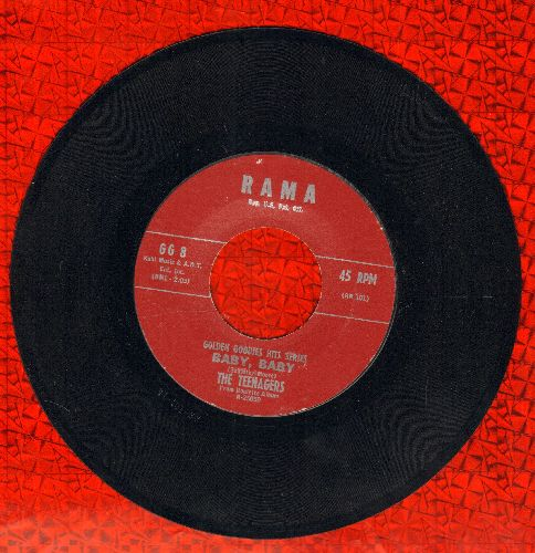 Teenagers - Baby, Baby/Gee (by The Crows on flip-side) (early double-hit re-issue) - NM9/ - 45 rpm Records