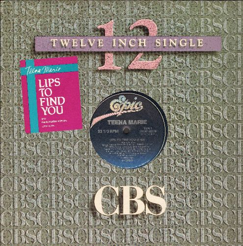 Teena Marie - Lips To Find You (5:09)/Lips To Find You (Instrumental - 5:09) (12 inch vinyl Maxi Single, Canadian Pressing with Company Cover) - NM9/ - Maxi Singles