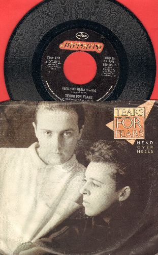 Tears For Fears - Head Over Heels/When In Love With A Blind Man (with picture sleeve) - NM9/VG7 - 45 rpm Records