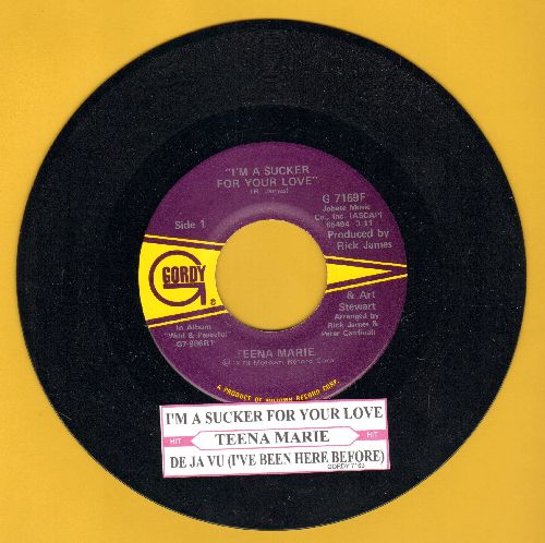 Teena Marie - I'm A Sucker For Your Love/De Ja Vu (I've Been Here Before)(with juke box label) - NM9/ - 45 rpm Records