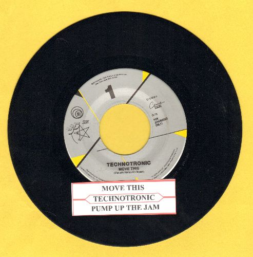 Technotronic - Move This/Pump Up The Jam (with juke box label) - NM9/ - 45 rpm Records