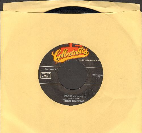 Teen Queens - Eddie My Love/Stranded In The Jungle (by The Cadets on flip-side) (double-hit re-issue) - NM9/ - 45 rpm Records