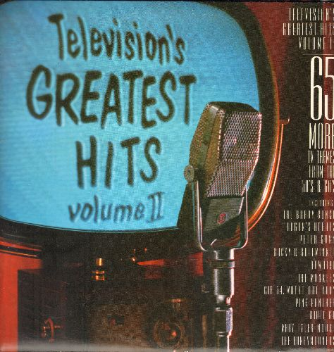 Television's Greatest Hits - Television's Greatest Hits Volume II - 65 More TV Themes From The 1950s & 60s (2 vinyl LP records in gate-fold cover) - NM9/NM9 - LP Records